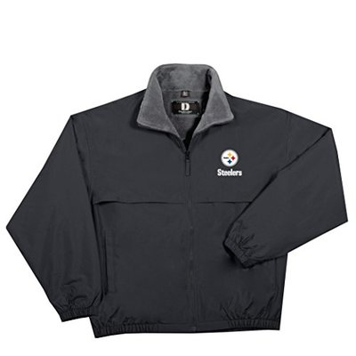 NFL Pittsburgh Steelers  Triumph Fleece Lined Mid Weight Jacket, X-Large, Black
