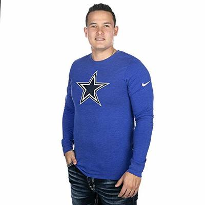 NFL Dallas Cowboys Men's Nike Long Sleeve Vault Tri-Tee, Royal, Large