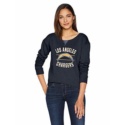 OTS NFL Los Angeles Chargers Women's Singleback Fleece Pullover, Rush Valley, Large