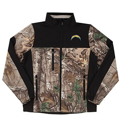 NFL San Diego Chargers Hunter Colorblocked Softshell Jacket, Real Tree Camouflage, X-Large