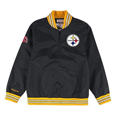 """Pittsburgh Steelers Mitchell & Ness NFL Men's """"Endzone"""" 1/4 Zip Pullover Jacket"""