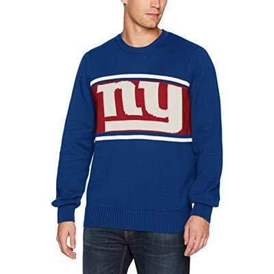 OTS NFL New York Giants Men's Pullover Sweater, Logo, Large