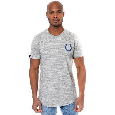 Ultra Game NFL Indianapolis Colts Mens Active Basic Space Dye Tee Shirt, Space Dye, X-Large