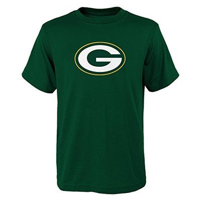 NFL Green Bay Packers Boys 8-20 Primary Logo Short Sleeve Tee, Hunter, X-Large