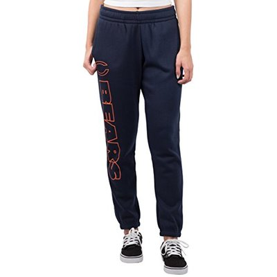Ultra Game NFL Chicago Bears Womens Relaxed Fit Jogger, Navy, X-Large
