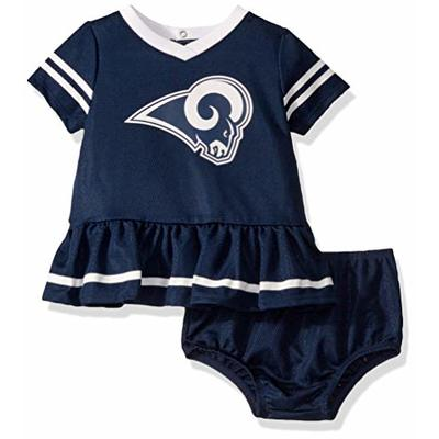 NFL Los Angeles Rams Girls DRESS AND DIAPER COVER, Team Color, 18M