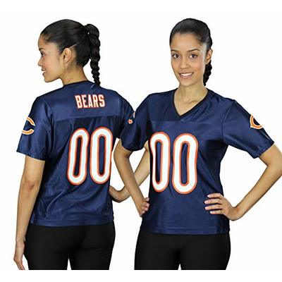 Chicago Bears NFL Womens Team Fashion Dazzle Jersey, Navy (X-Large, Navy)