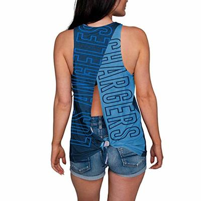 Los Angeles Chargers NFL Womens Tie-Breaker Sleeveless Top – XL
