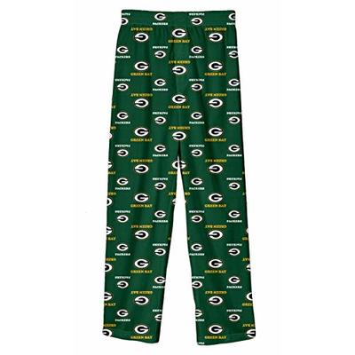 "Green Bay Packers Youth NFL""All Over"" Team Logo Pajama Sleep Pants"