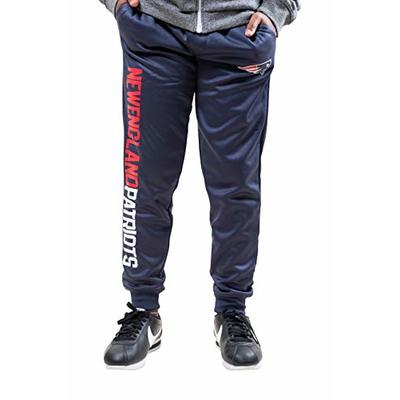 Ultra Game NFL New England Patriots Youth High Performance Moisture Wicking Fleece Jogger Sweatpants, Team Color, 14/16
