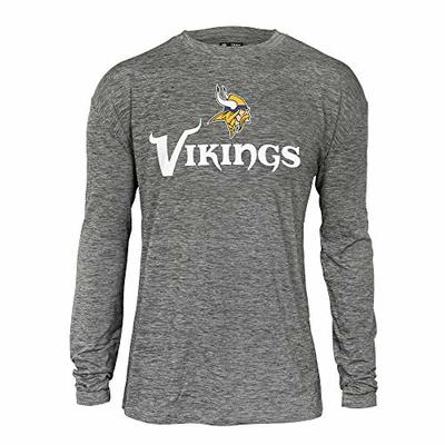 NFL Zubaz Mens Minnesota Vikings Long Sleeve Tee, Large, Team Color