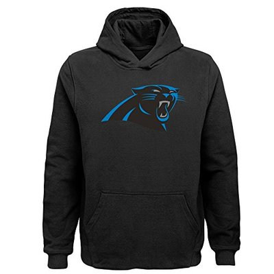 NFL Carolina Panthers Toddler Primary Logo Sueded Classic Hoodie Black, 2T