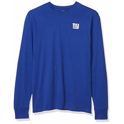 OTS NFL New York Giants Men's Rival Long Sleeve Tee, Distressed Powell, Large
