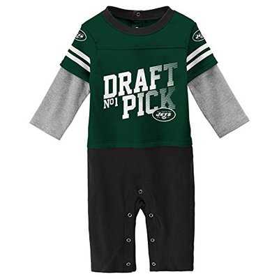 NFL New York Jets Newborn & Infant Draft Pick Long Sleeve Coverall Hunter Green, 18 Months