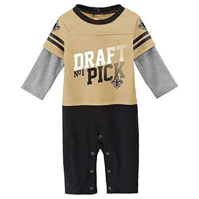 Outerstuff NFL New Orleans Saints Newborn & Infant Draft Pick Long Sleeve Coverall Boulder, 18 Months