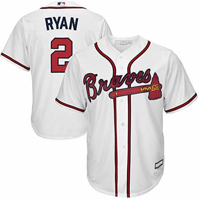 MLB X NFL Official Crossover Youth 8-20 Cool Base White Home Player Replica Jersey (Large 14/16, Matt Ryan Atlanta Braves)