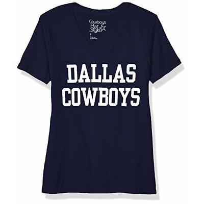 NFL Dallas Cowboys Womens Coaches Too V-Neck Tee, Navy, X-Large