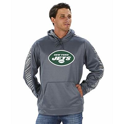 NFL New York Jets Men's Pullover Hoodie, Gray, X-Large