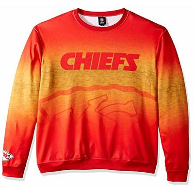 NFL Kansas City Chiefs PRINTED GRADIENT Ugly Sweater, Small