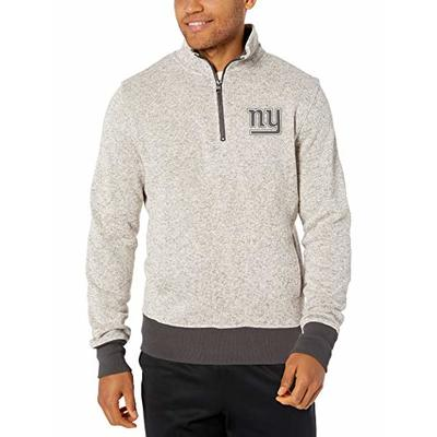 OTS NFL New York Giants Men's Anchorage 1/4-Zip Pullover, Double Arch, Large