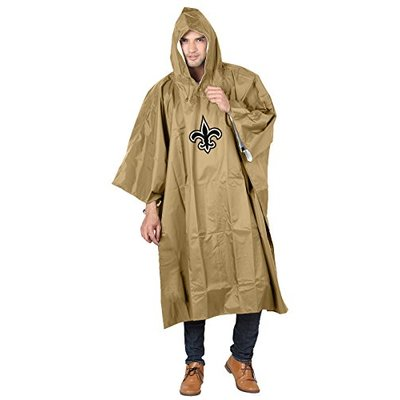 NFL New Orleans Saints Deluxe Poncho, 44″ x 49″