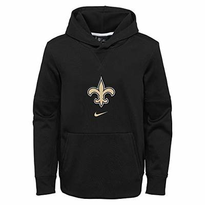 NFL Youth Circuit Logo Essential Performance Pullover Hoodie, New Orleans Saints Large (14/16)