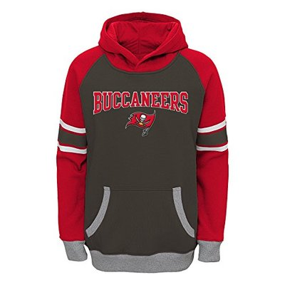 Outerstuff NFL Tampa Bay Buccaneers Boys Robust Pullover Hoodie, Pewter, Large (14-16)