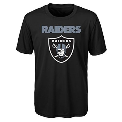 "NFL Oakland Raiders Youth Boys ""Goal Line Stand"" Performance Tee Black, Youth X-Large(18)"