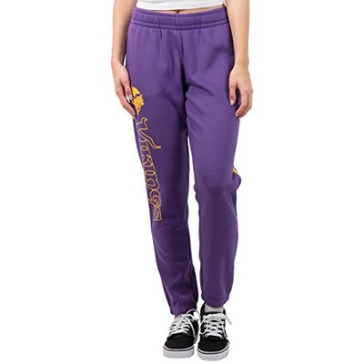 Ultra Game NFL Minnesota Vikings Womens Relaxed Fit Jogger, Team Color, Large