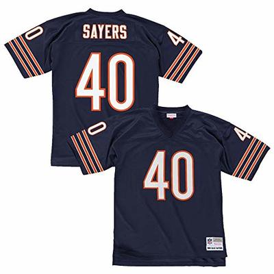 Mitchell & Ness Gales Sayers Chicago Bears Men's NFL Navy Jersey (Large)