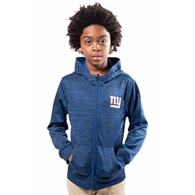 Ultra Game NFL New York Giants Youth Extra Soft Fleece Pullover Hoodie Sweatshirt, Black, 14/16
