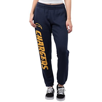 Ultra Game NFL Los Angeles Chargers Womens Relaxed Fit Jogger, Navy, X-Large