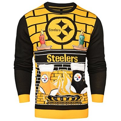 NFL Pittsburgh Steelers 3D Ugly Sweater, X-Large
