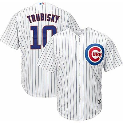 MLB X NFL Official Crossover Youth 8-20 Cool Base White Home Player Replica Jersey (X-Large 18/20, Mitchell Trubisky Chicago Cubs)