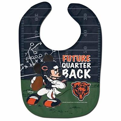 WinCraft NFL Chicago Bears Baby BibAll Pro Style Baby Bib, Team Colors, One Size