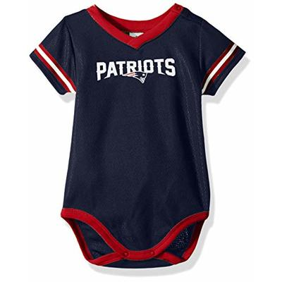 NFL New England Patriots Baby-Boy Dazzle Bodysuit, Team Color, 0-3 Months