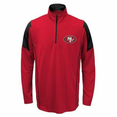 Outerstuff Youth NFL San Francisco 49ers Lightweight 1/4 Zip Pullover