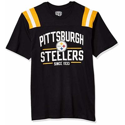 OTS NFL Pittsburgh Steelers Men's Lineup Short Sleeve Tee, Line Up, X-Large