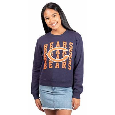 Ultra Game NFL Chicago Bears Womens Extra Soft Snow Distressed Fleece Long Sleeve Sweatshirt, Team Color, Large