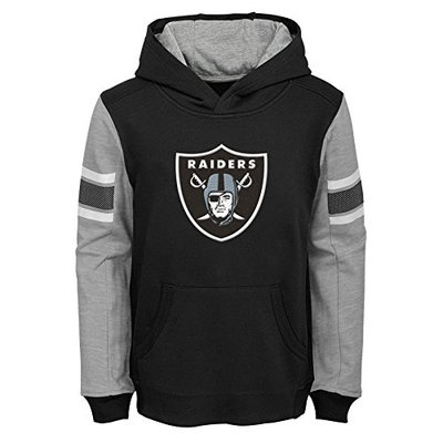 "NFL Oakland Raiders 4-7 Outerstuff ""Man In Motion"" Pullover Hoodie, Team Color , Kids Small (4-6)"