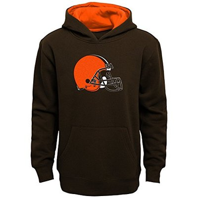 "NFL by Outerstuff Boys ""Prime"" Pullover Fleece Hoodie Cleveland Browns, Brown Suede, Youth Small (8-10)"