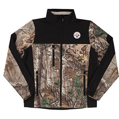 NFL Pittsburgh Steelers Hunter Colorblocked Softshell Jacket, Real Tree Camouflage, X-Large