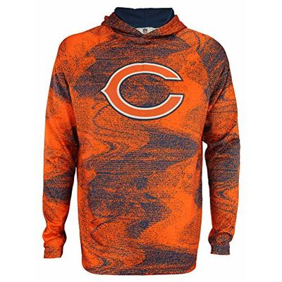 Zubaz NFL Chicago Bears Men's Static Body Lightweight Performance French Terry Hoodie Size Large