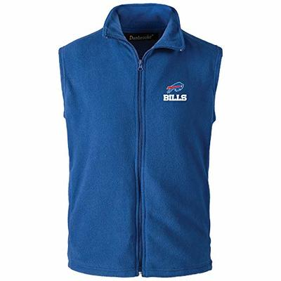 NFL Buffalo Bills Men's Houston Fleece Vest, Small, Team Color