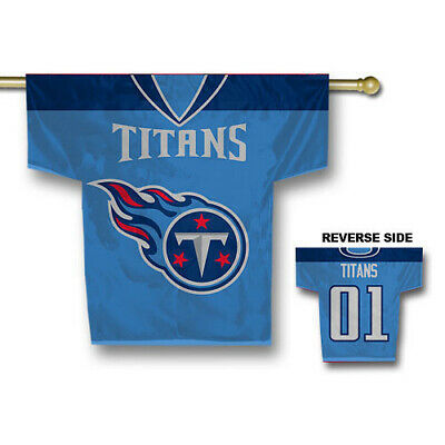 Tennessee Titans NFL Jersey Shaped House Flag