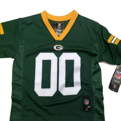 NFL Green Bay Packers Youth Boys Jersey 2 Sided Kids Size M (5/6) Green #00
