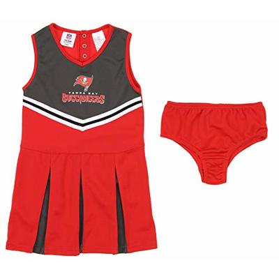 Outerstuff NFL Youth Girls (4-16) Cheerleader Dress Set, Tampa Bay Buccaneers X-Small (4-5)