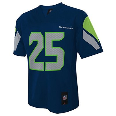 Outerstuff NFL Boys' NFL Kids & Youth Team Color Player Fashion Jersey, Dark Navy, Large (7)