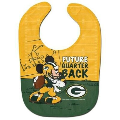 Green Bay Packers Baby Bib Disney Mickey Mouse Feeding Infant NFL Football Fan