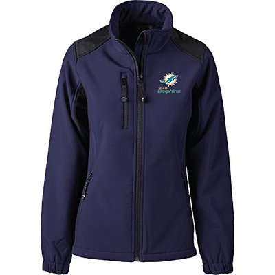 Dunbrooke Apparel NFL Miami Dolphins Women's Softshell Jacket, Large, Navy
